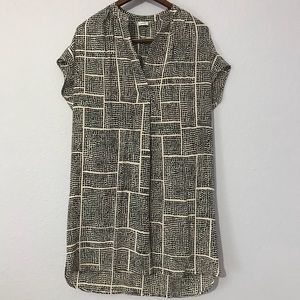 VINCE 100% silk oversize sheath dress w/ pockets